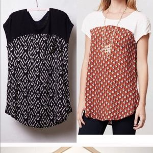 Anthropologie tunic top size xs